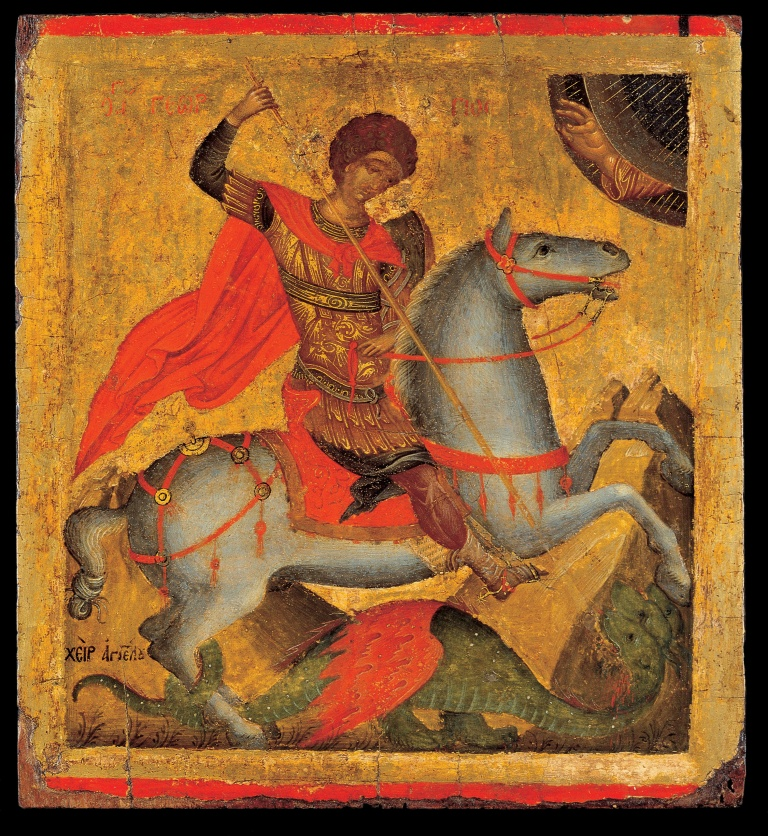 Chanter_Angelos_Akotandos_-_St_George_on_Horseback,_Slaying_the_Dragon_-_Google_Art_Project