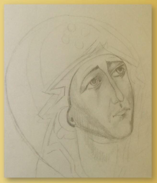 Maica Domnului essex desen