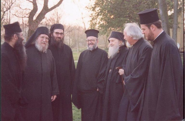 metropolitan-panteleimon-of-belgiumvisit-at-the-patriarchal-monastery-of-saint-john-the-baptist-maldon-in-essex-and-meeting-with-the-late-archimandrite-sophrony-1991