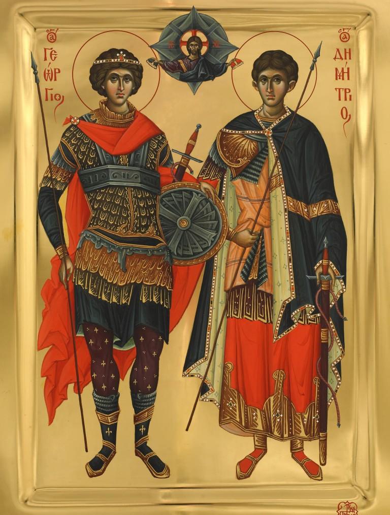 Sf. gheorghe si sf. Dimitrie Vatopedu
