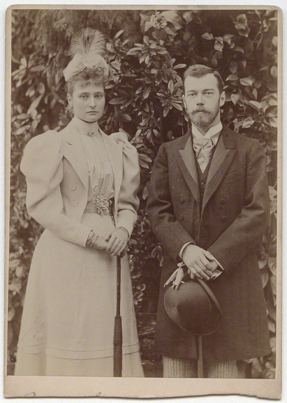 NPG x8743; Alexandra, Empress of Russia (nÈe Princess Alix of Hesse and by Rhine); Nicholas II, Emperor of Russia by James Russell & Sons